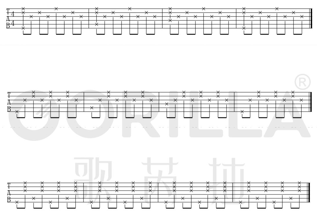 【歌芮拉吉他零基础入门教学】第七课:分解节奏型